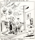 Original Comic Art:Comic Strip Art, Paul Conrad - Editorial Comic Strip Original Art (c. 1970s)....
