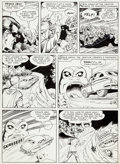 Original Comic Art:Panel Pages, Pete Costanza Whiz Comics #124 Ibis Story Page 2 Original Art (Fawcett, 1950)....
