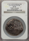 Mozambique: Portuguese Colony Counterstamped 8 Reales ND (1767) VF25 NGC