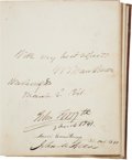 Autographs:Statesmen, 19th Century Autograph Album Signed By President Martin Van Buren,and More than 190 Members of the 26th Congress. ...