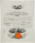Autographs:U.S. Presidents, Andrew Johnson Signed Presidential Military Appointment....