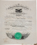 Autographs:U.S. Presidents, Abraham Lincoln Signed Presidential Military Appointment....