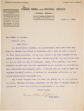 Autographs:Authors, Booker T. Washington Typed Letter Signed. ...