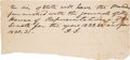 Autographs:U.S. Presidents, Andrew Jackson Autographed Note Signed....