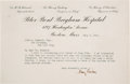 Autographs:Inventors, Harvey Cushing Typed Letter Signed....