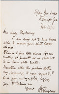 Autographs:Authors, Alfred Tennyson Autograph Letter Signed....