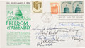 Autographs:Statesmen, Burger Court - Freedom of Assembly FDC Signed by All NineJustices....