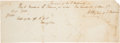 Autographs:Statesmen, Henry Clay Autograph Document Signed. ...