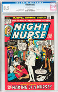 Bronze Age (1970-1979):Romance, Night Nurse #1 (Marvel, 1972) CGC VF+ 8.5 Off-white to whitepages....