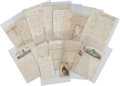 Militaria:Ephemera, Union Soldier's Letter Group by James A. Hudson of Company H, 1stNew York Cavalry...