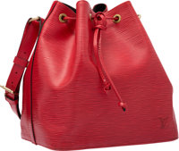 """Louis Vuitton Red Epi Leather Noe NM Bag Very Good Condition 10"""" Width x 10.5"""" Height x 8"""" Depth<..."""