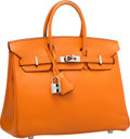 Luxury Accessories:Bags, Hermes 25cm Orange H Epsom Leather Birkin Bag with Palladium Hardware. K Square, 2007. Very Good to Excellent Conditio...