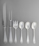 A Group of Six Allan Adler Round End Pattern Silver Flatware Serving Pieces, Los Angeles, California, circa 1950... (Tot...