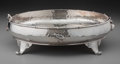 Silver Holloware, American:Bowls, A Whiting Mfg. Co. Silver and Mixed Metals Footed Bowl, New York,New York. Marks: (W-griffin), STERLING, (effaced mark)...