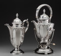 Silver Holloware, American:Coffee Pots, A Gorham Silver Coffee Pot and Hot Water Kettle on Stand,Providence, Rhode Island, circa 1935. Marks: GORHAM,(lion-anc... (Total: 3 Items)