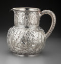 Silver Holloware, American:Water Pitchers, A Tiffany & Co. Silver Bacchanal Theme Water Pitcher, New York,New York, circa 1873-1891. Marks: TIFFANY & CO, 3077MAKER...