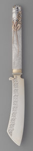 Silver Flatware, American:Other , An American Partial Gilt Silver Master Butter Knife with CrayfishMotif, late 19th century. Marks: J.H. BUELL & CO,STERLI...
