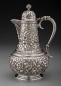 Silver Holloware, American:Coffee Pots, A Tiffany & Co. Silver Floral Repoussé Coffee Pot, New York,New York, circa 1873-1891. Marks: TIFFANY & CO, 5014 MAKERS4...