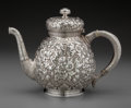 Silver Holloware, American:Tea Pots, A Tiffany & Co. Silver Persian-Style Floral Repoussé Teapot,New York, New York, circa 1873-1891. Marks: TIFFANY & CO,379...