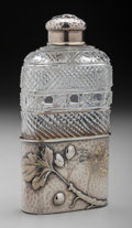 Silver Holloware, American:Flasks, A Tiffany & Co. Partial Gilt Silver and Cut-Glass Flask, NewYork, New York, circa 1877-1891. Marks: TIFFANY & CO., 4715,...