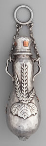 Silver Smalls:Vinaigrettes, A Tiffany & Co. Silver and Mixed Metals Double Gourd-FormChatelaine Scent Flask, New York, New York, circa 1877-1891.Marks...