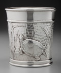 Silver Holloware, American:Desk Accessories, An American Silver Cup with Marine Motifs Made for Tiffany &Co., 20th century. Marks: TIFFANY & CO., STERLING SILVER,925...