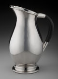 Silver Holloware, American:Pitchers, A Georg Jensen Inc. Hand Hammered Silver and Rosewood WaterPitcher, New York, New York, post 1945. Marks: Georg Jensen,...