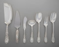 Silver & Vertu:Flatware, A Group of Seven Tiffany & Co. Chrysanthemum Pattern Silver Serving Pieces, New York, New York, designed 1880. M... (Total: 7 )
