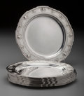Silver Holloware, American:Plates, Twelve Tiffany & Co. Silver Bread and Butter Plates, New York,New York, circa 1910-1930. Marks: TIFFANY & CO, 18001MAKER... (Total: 12 )
