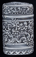Silver Smalls:Match Safes, A Tiffany & Co. Silver Match Safe, New York, New York, circa1886-1891. Marks: TIFFANY & CO., STERLING, 8809, M,8829. 2...