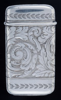 Silver Smalls:Match Safes, A Tiffany & Co. Silver Match Safe, New York, New York,1888-1891. Marks: TIFFANY & CO., STERLING SILVER, 9886, M,V119, 8...