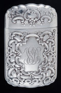 Silver Smalls:Match Safes, A Tiffany & Co. Silver Match Safe, New York, New York, circa1892-1902. Marks: TIFFANY & CO., T, STERLING. 2-1/4inches ...