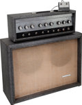 Musical Instruments:Amplifiers, PA, & Effects, 1965 Silvertone 1484 Grey Guitar Amplifier, Serial # 185 11040....