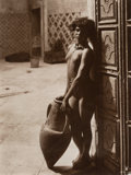 Photographs, Rudolf Franz Lehnert (Austrian, 1878-1948) and Ernst Heinrich Landrock (German, 1878-1966). Untitled (Nude in Doorway), ...