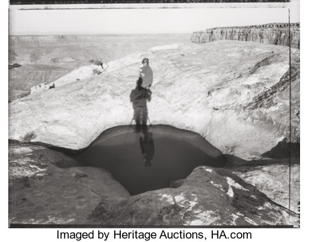 Mark Klett (American, b. 1952)Lena by the Reflecting Pool, Muley Pt., 1996Gelatin silver15-7/8 x 19-3/4 inches (40...
