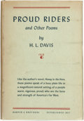 Books:Americana & American History, H. L. Davis. Proud Riders and Other Poems. New York andLondon: Harper & Brothers Publishers, [1942]....