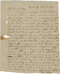 Militaria:Ephemera, [Siege of Boston]. Jeduthan Baldwin Autograph Letter Signed. ...