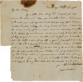 Militaria:Ephemera, [Fortifying Fort Ticonderoga]. Jeduthan Baldwin Autograph LetterSigned. ...