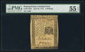 Colonial Notes:Pennsylvania, Pennsylvania April 25, 1776 2s PMG About Uncirculated 55 EPQ.. ...