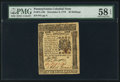 Colonial Notes:Pennsylvania, Pennsylvania December 8, 1775 40s PMG Choice About Unc 58 EPQ.. ...