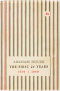 Books:Reference & Bibliography, August Derleth. Arkham House: The First 20 Years 1939-1959. A History and Bibliography. Sauk City: Arkham House Publ...