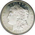 Morgan Dollars: , 1921 $1 MS65 Deep Mirror Prooflike PCGS. Ex: Jack Lee. Even though 1921 Dollars were produced...