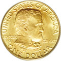 Commemorative Gold: , 1922 G$1 Grant no Star MS67 PCGS. This is a conditionally scarceexample that has yet to be bettered by a single coin at PC...