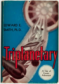 Edward E. Smith. LIMITED/INSCRIBED. Triplanetary. Reading, PA: Fantasy Press, 1948