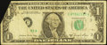 Error Notes:Foldovers, Fr. 1912-C $1 1981A Federal Reserve Note. Very Good.. ...