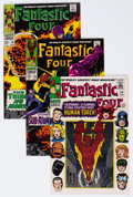 Silver Age (1956-1969):Superhero, Fantastic Four Group of 4 (Marvel, 1966-68) Condition: Average NM-.... (Total: 4 Comic Books)