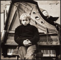 Photographs:Gelatin Silver, Evgeny Mokhorev (Russian, b. 1967). Boys on a Piano, 1991. Gelatin silver. 15-1/4 x 15-1/4 inches (38.7 x 38.7 cm). Sign...