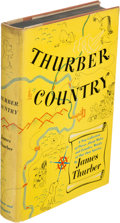 Books:Literature 1900-up, James Thurber. Thurber Country. New York: 1953. Firstedition, inscribed with original drawing....