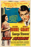 "Movie Posters:Drama, Penny Serenade (Columbia, 1941). Autographed One Sheet (27"" X 41"")Style A.. ..."
