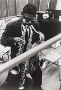 Photographs:Gelatin Silver, William Claxton (American, 1927-2008). Roland Kirk, circa1960. Gelatin silver, printed later. 13-3/8 x 9-1/8 inches (34...